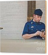 Policeman At St. Peter's Basilica Wood Print