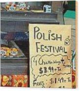 Polish Food Street Stand Wood Print
