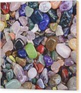 Polished Gemstones Wood Print