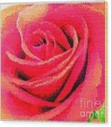 Polka Dot Beautiful Rose Wood Print