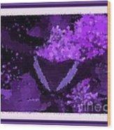 Polka Dot Butterfly Purple Wood Print