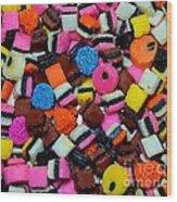 Polka Dot Colorful Candy Wood Print