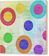 Polka Dot Panorama - Rainbow - Circles - Shapes Wood Print by Andee Design