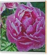 Polka Dot Pink Peony Wood Print