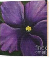 Polka Dot Purple African Violet Wood Print