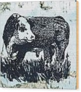 Polled Hereford Bull 26 Wood Print