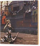 Pollice Verso Wood Print by Pg Reproductions