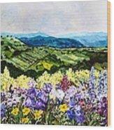 Pollinators Ravine Wood Print