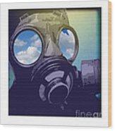 Pollution Wood Print