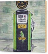 Polly Gas Pump Wood Print