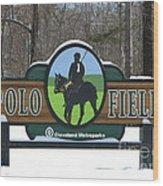 Polo Field Wood Print