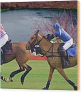 Polo Match Wood Print