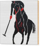 Polo Player Wood Print