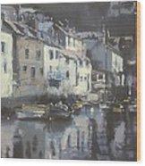 Polpero Cornwall England Wood Print