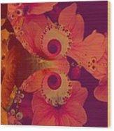 Polyanthus Spiral Wood Print by Nancy Pauling