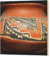 Polychrome Pottery 1100 Ad Wood Print