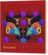 Polychrome Red Kimono Wood Print