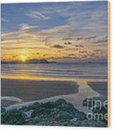 Polzeath Sunset 3 Wood Print