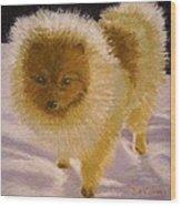 Pom Pom Pup Wood Print