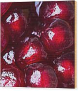 Pomegranate Closeup Wood Print