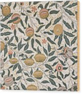 Pomegranate Design For Wallpaper Wood Print by William Morris