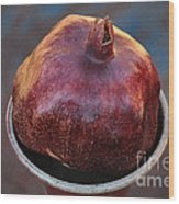 Pomegranate In A Vase Wood Print