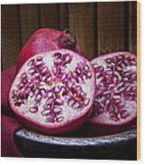 Pomegranate Still Life Wood Print by Tom Mc Nemar