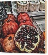 Pomegranates In Open Market Art II Wood Print