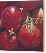 Pomegranates Wood Print