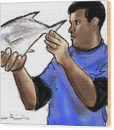 Pompano Catch Of The Day Wood Print