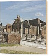 Pompeii 3 Wood Print