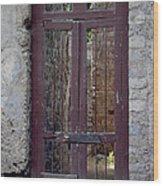 Pompeii Old Door Wood Print