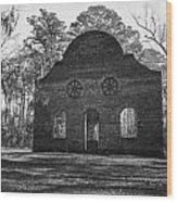 Pon Pon Chapel Of Ease 2 Bw Wood Print