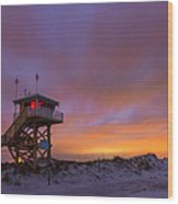 Ponce Inlet Beach Guard Tower Wood Print