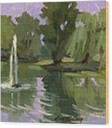Pond At Fort Dent Tukwilla Wood Print