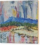 Pond By Massanutten Peak - Sold Wood Print