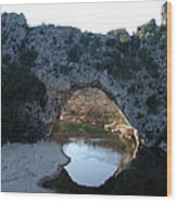 Pond Dark Ardeche France Wood Print