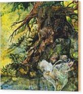 Pond Fairy Wood Print