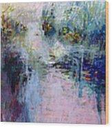 Pond Grasses Wood Print