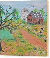 Pond Hill Road Wood Print