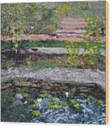 Pond In The English Walled Gardens Wood Print