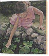 Pond Magic Wood Print