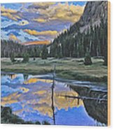 Pondering Reflections Wood Print by David Kehrli