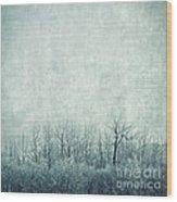 Pondering Silence Wood Print by Priska Wettstein