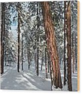 Ponderosa Winter Wood Print