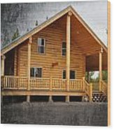 Pond's Cabin Wood Print