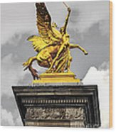 Pont Alexander IIi Fragment In Paris Wood Print