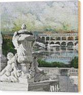 Pont Du Gard Roman Aqueduct Wood Print