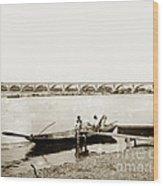 pont George V Bridge over Loire river Orleans Loire Valley France 1900 Wood Print