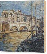 Pont Neuf Paris Wood Print
